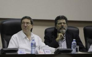 Bruno Rodríguez Parrilla con Abel Prieto. en Ministro de Cultura de Cuba.