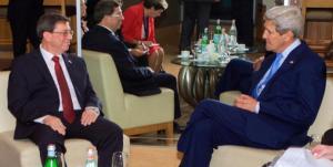 Bruno Rodríguez Parrilla, Ministro de Relaciones Exteriores de Cuba con John Kerry, Secretario de Estado de EE.UU.