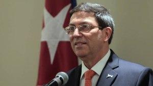Rueda de Prensa de Bruno Rodriguez, canciller de Cuba. Foto: Ismael Francisco/Cubadebate